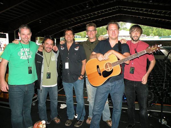 Ellis and Band at Sound check