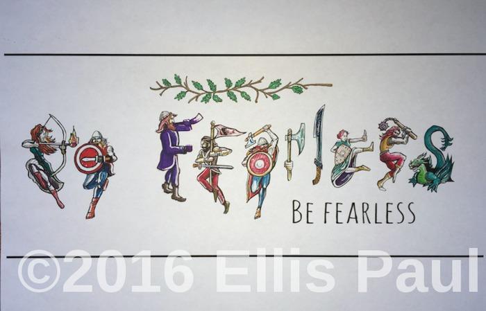 Ellis Paul039s Be FEARLESS motivational art poster
